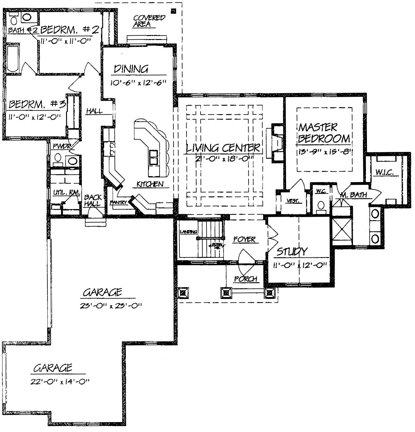 Ranch House Plans Angled Garage – ICMT SET : Ranch House ...