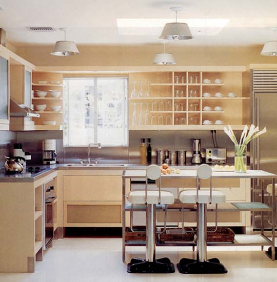 Image of: open shelf kitchen cabinets