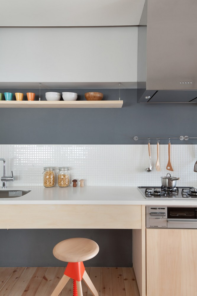 Image of: open shelving kitchen apartment