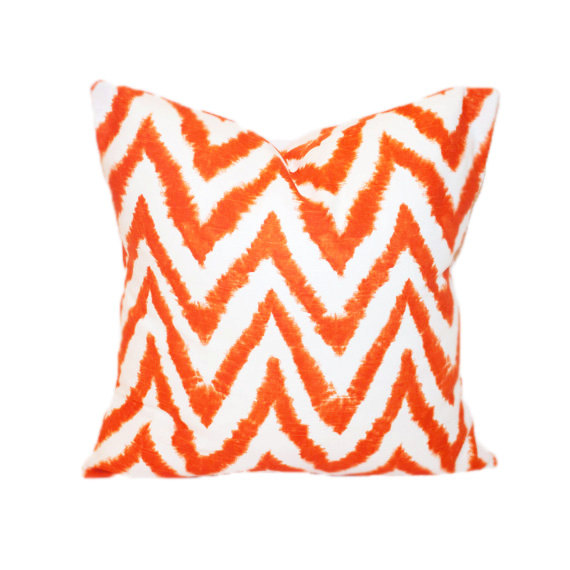 Image of: orange and white decorative pillows