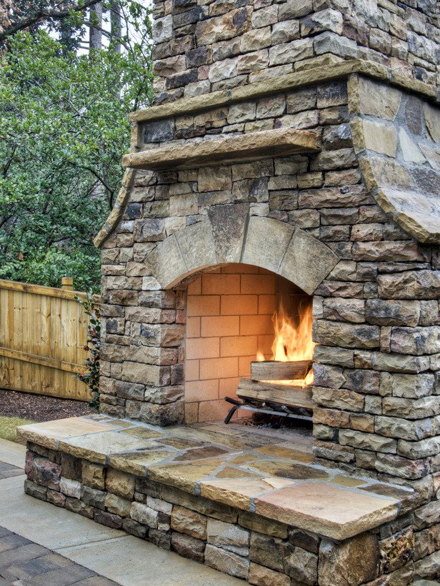 Image of: outdoor fireplace and grill designs