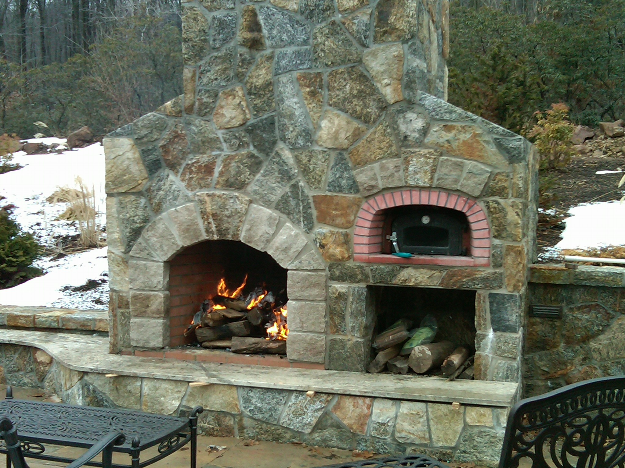 Image of: outdoor fireplace and oven designs