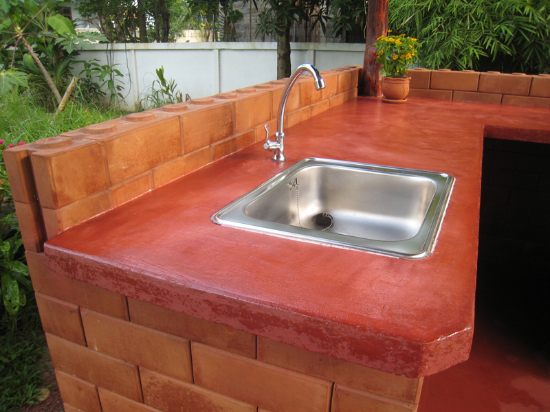 Image of: outdoor kitchen concrete countertops diy