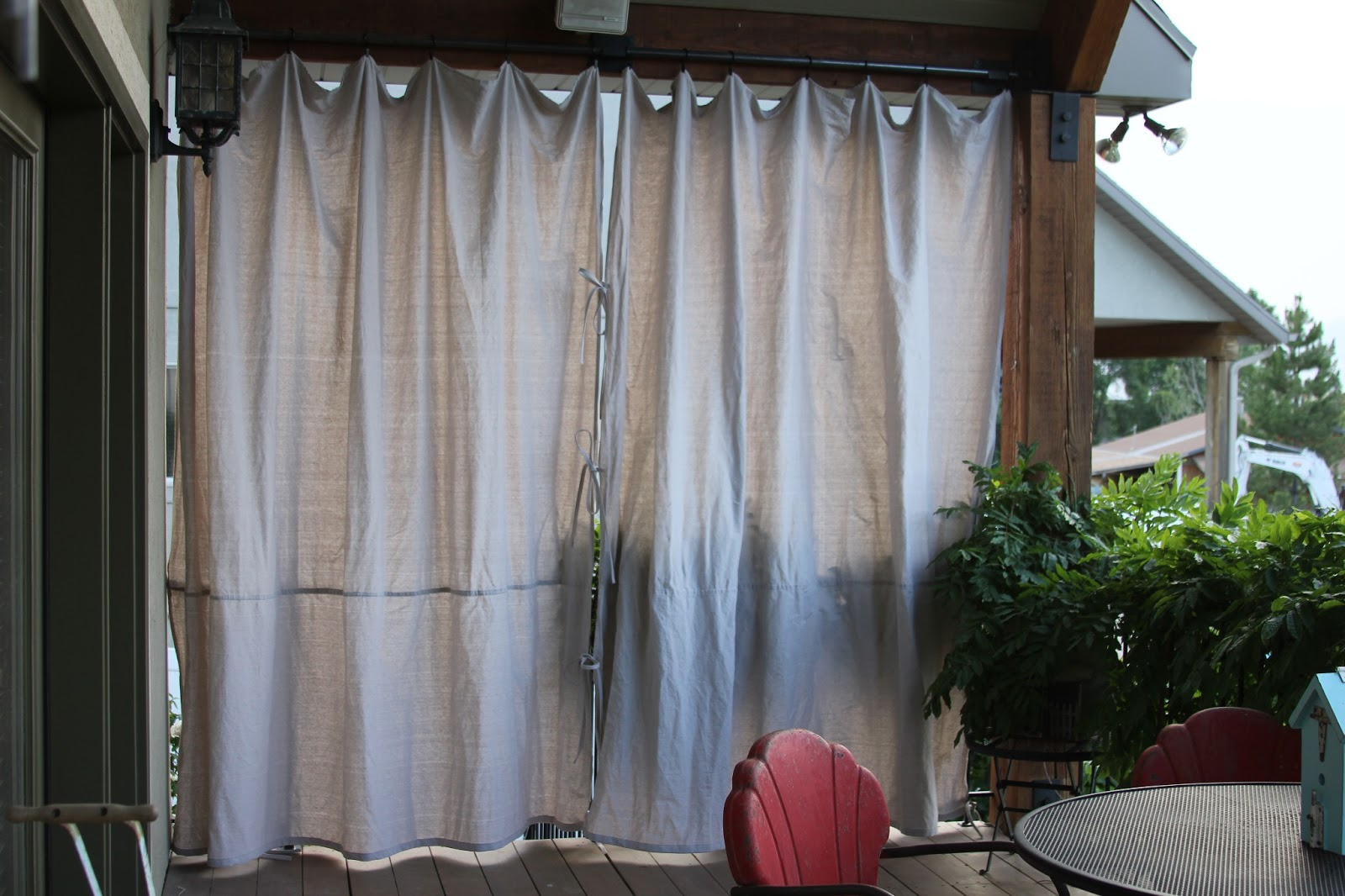 Image of: outdoor kitchen drapes