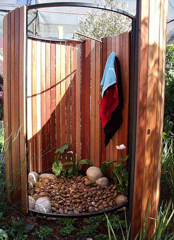 Image of: outdoor shower designs diy