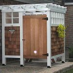 outdoor shower ideas cheap