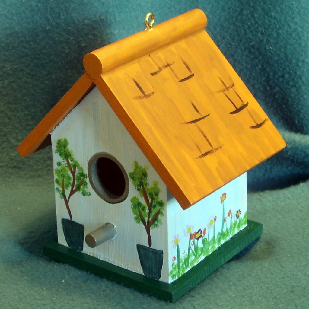 Image of: painted birdhouse designs