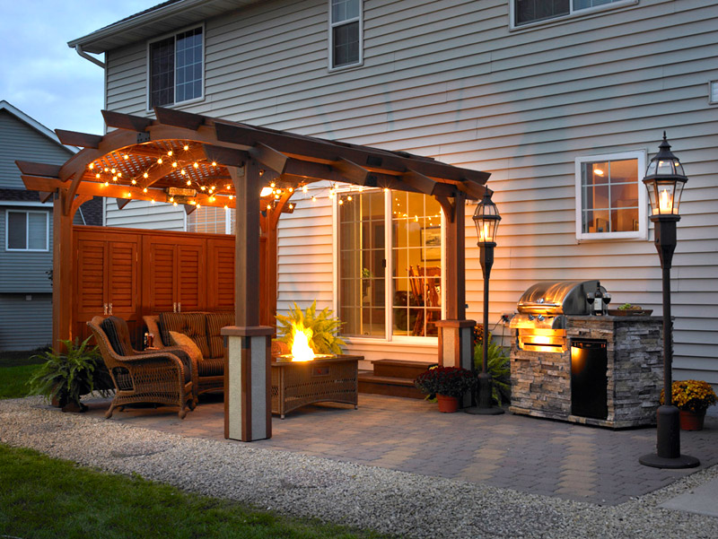 Image of: patio pergola designs