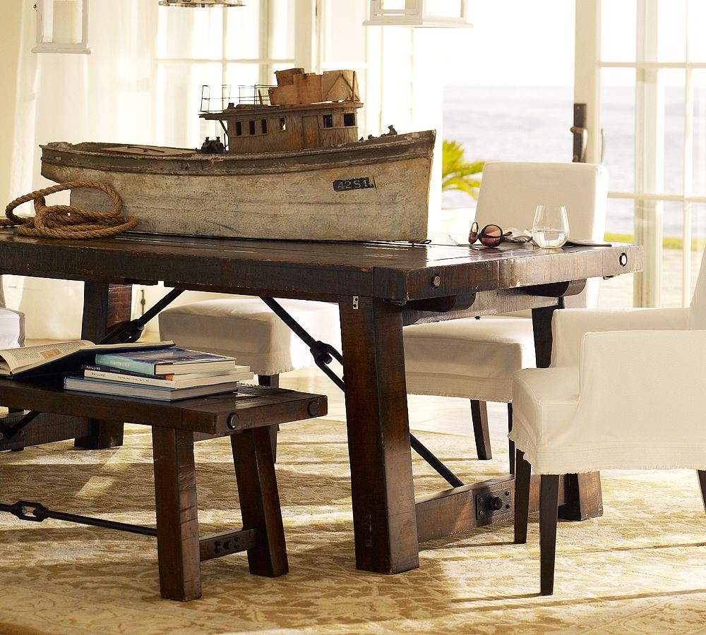 Image of: pottery barn benchwright table assembly