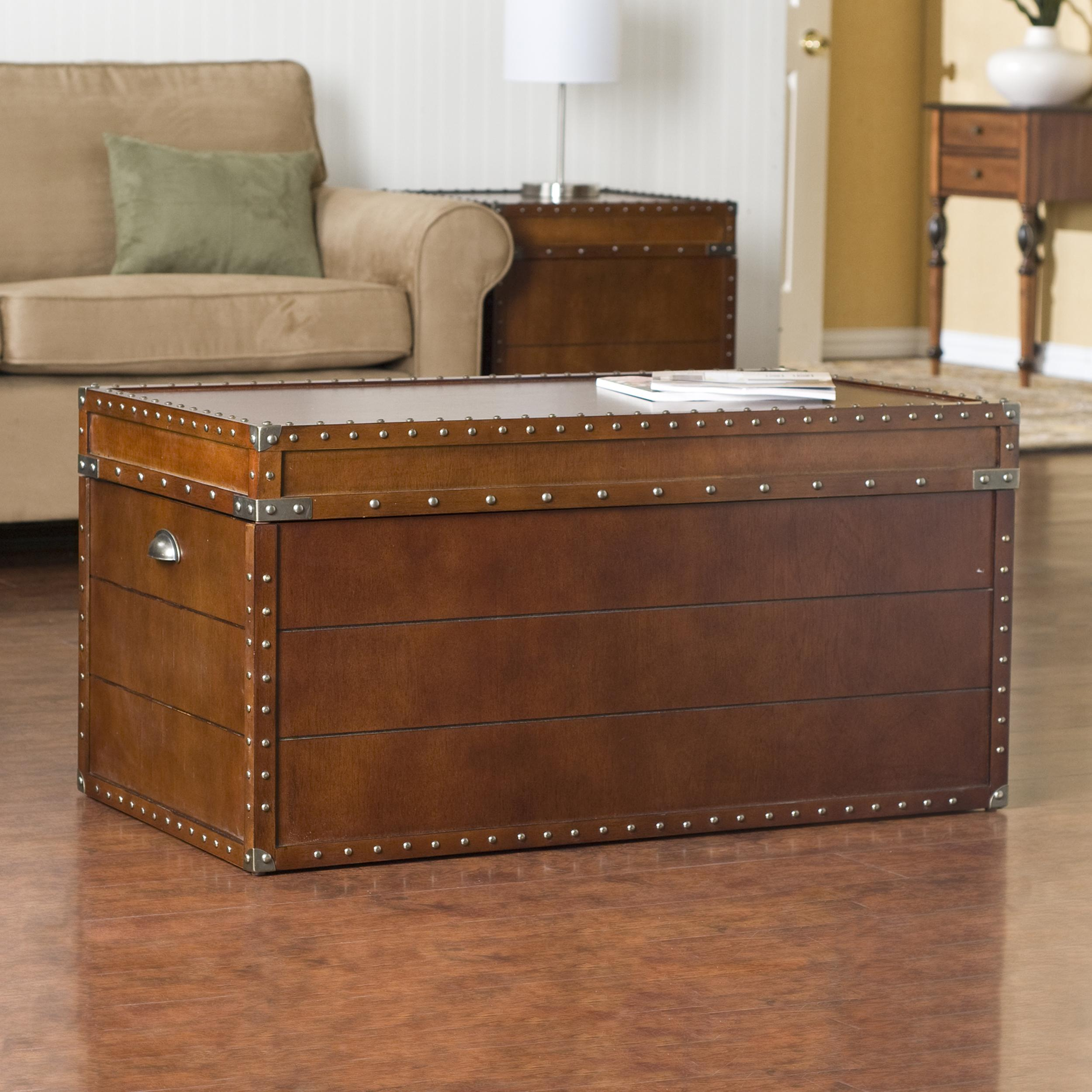 Image of: pottery barn trunk end table