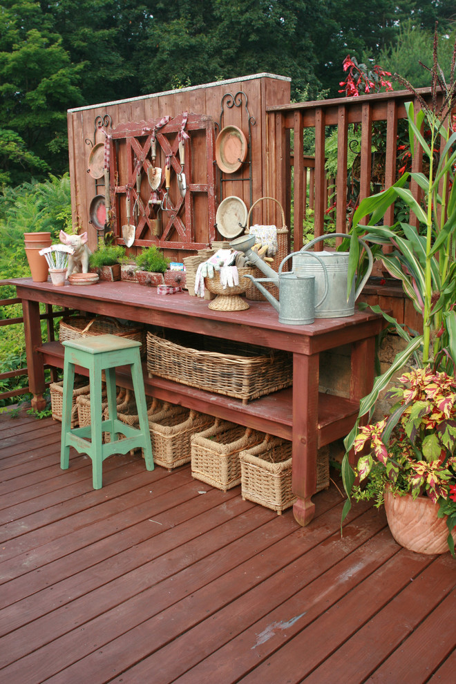 Image of: potting bench table plans