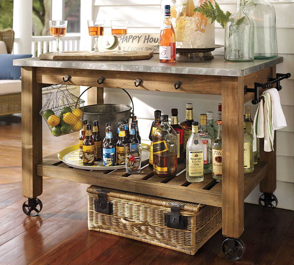 Image of: potting table bar