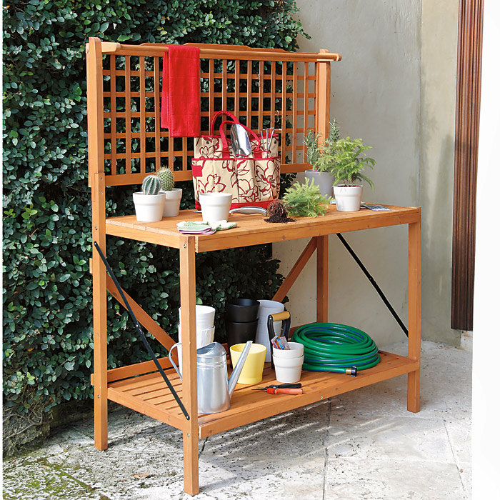 Image of: potting table building plans