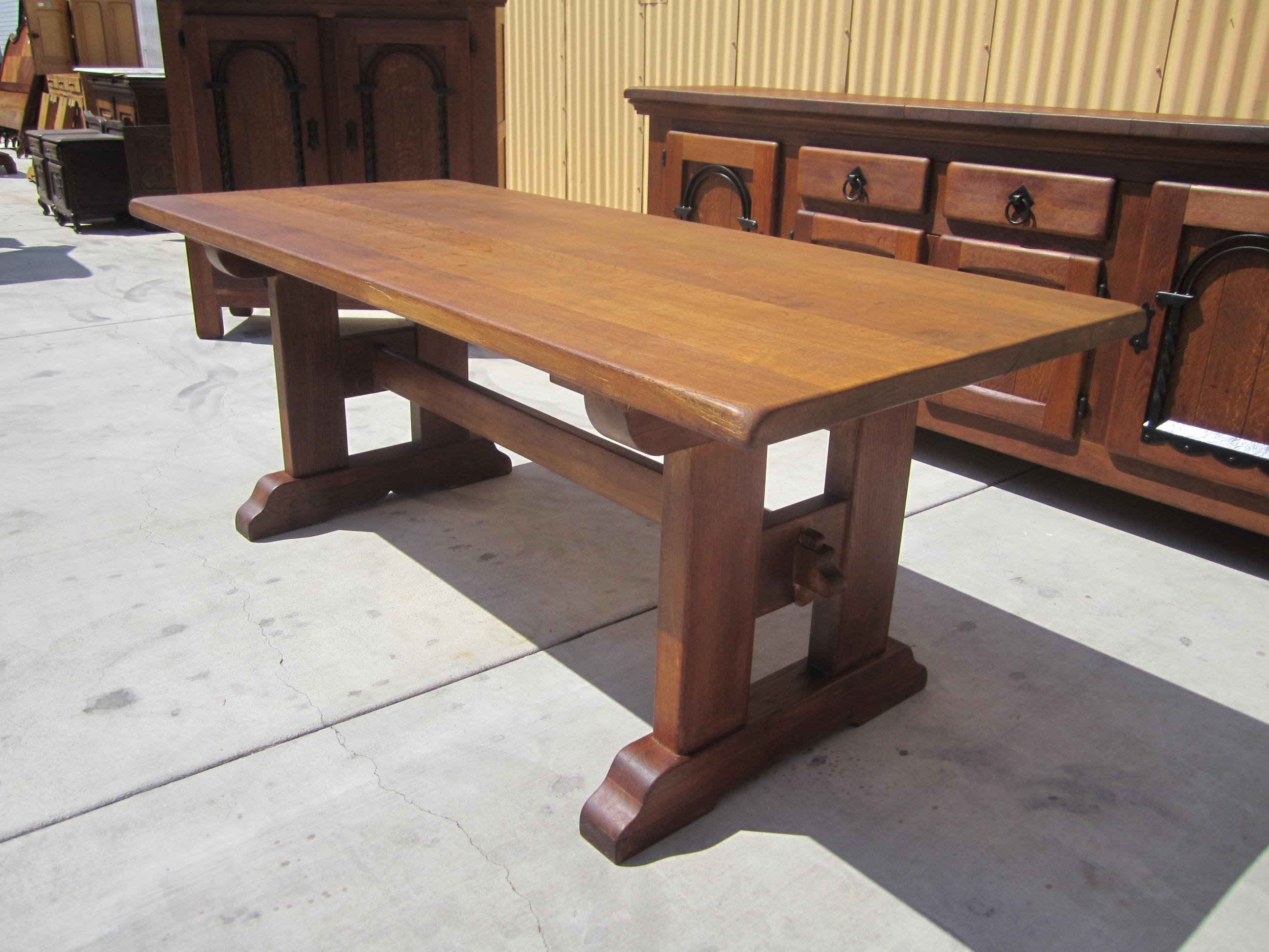 Image of: restoration hardware trestle table