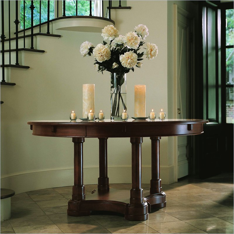 Image of: round foyer tables