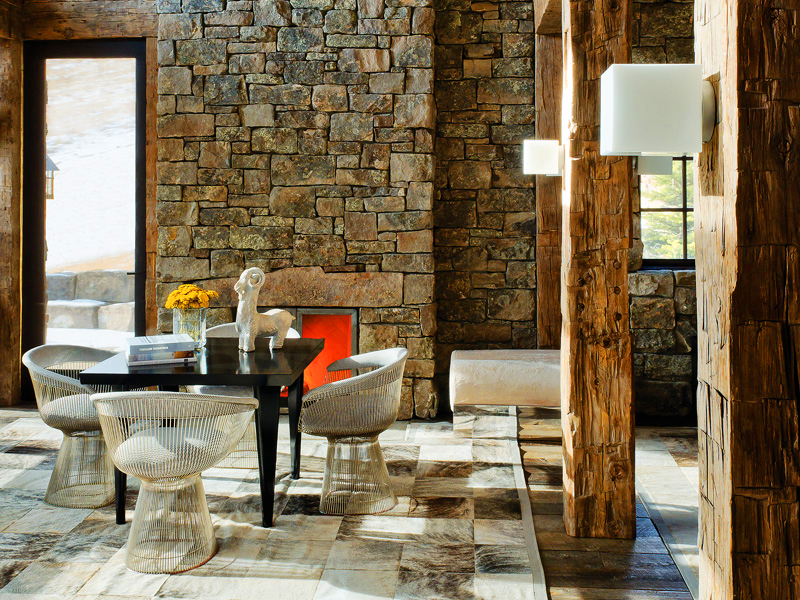 Image of: rustic and contemporary interior design