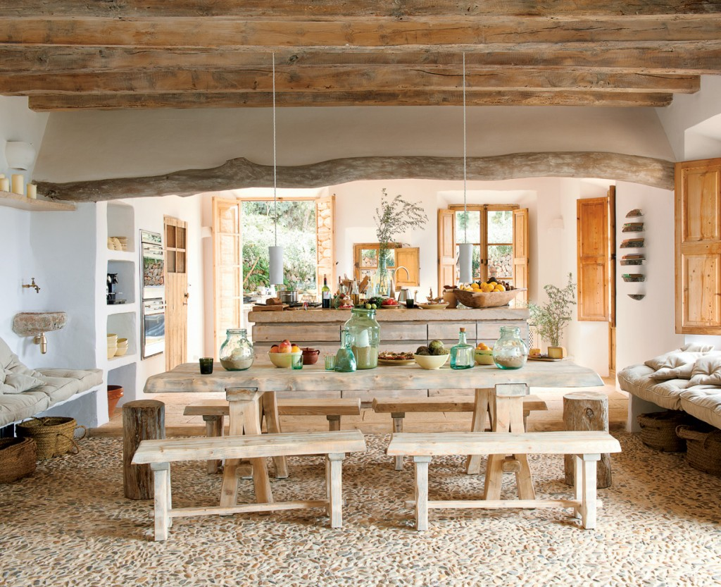 Image of: rustic beach interior design