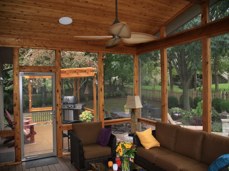 Image of: screen porch designs for houses