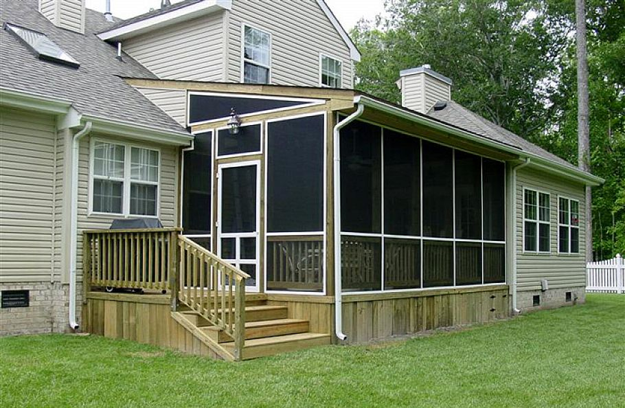 Image of: screened in porch design