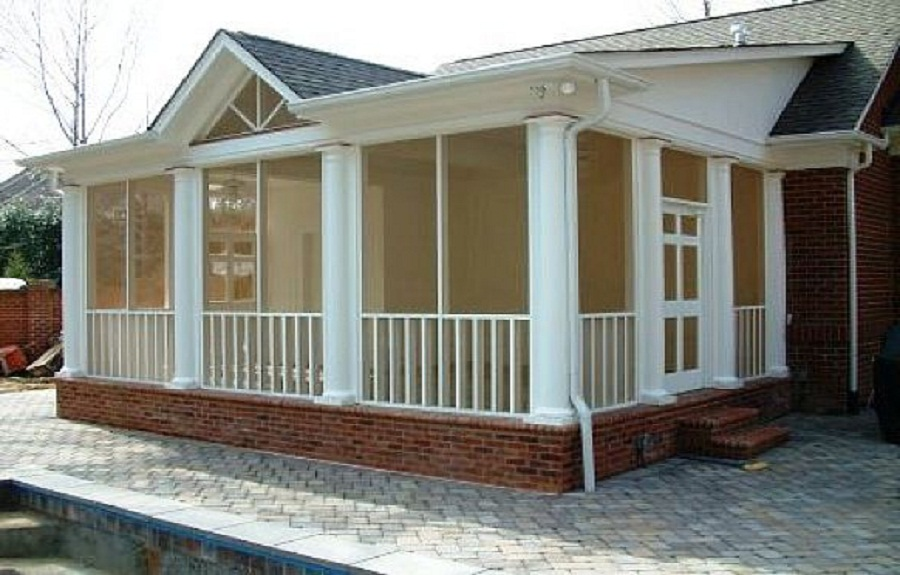 Image of: screened porch plans designs