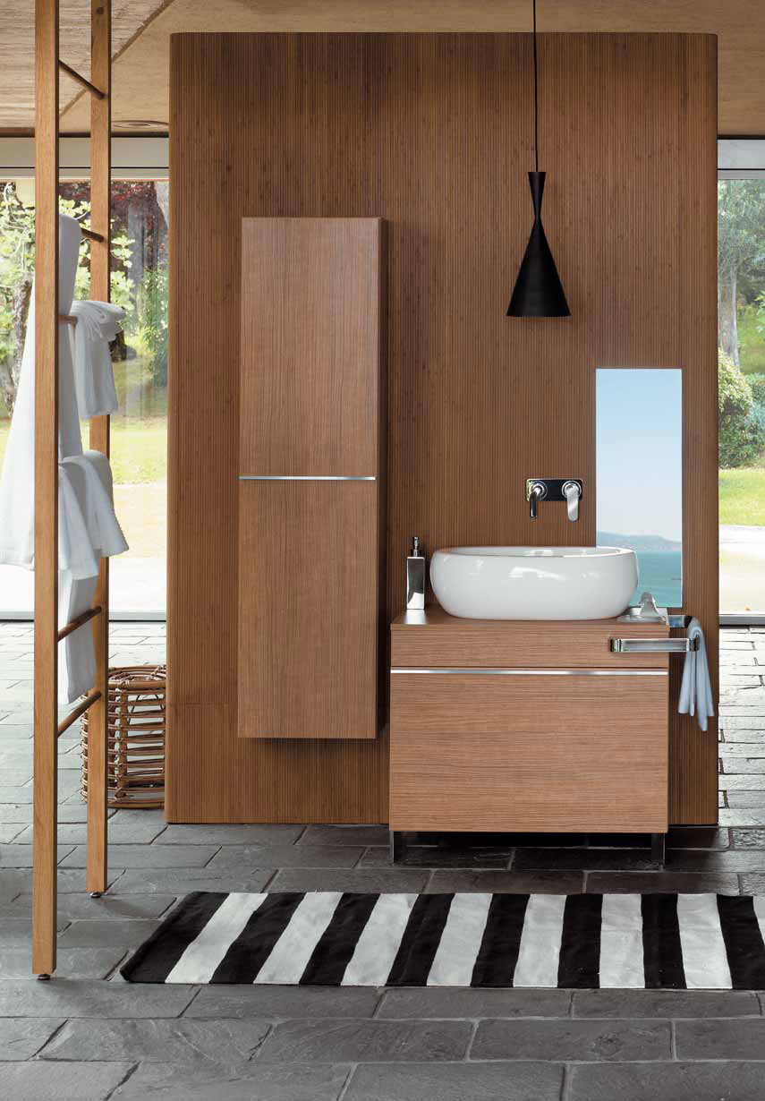 Image of: simple bathroom cabinet designs