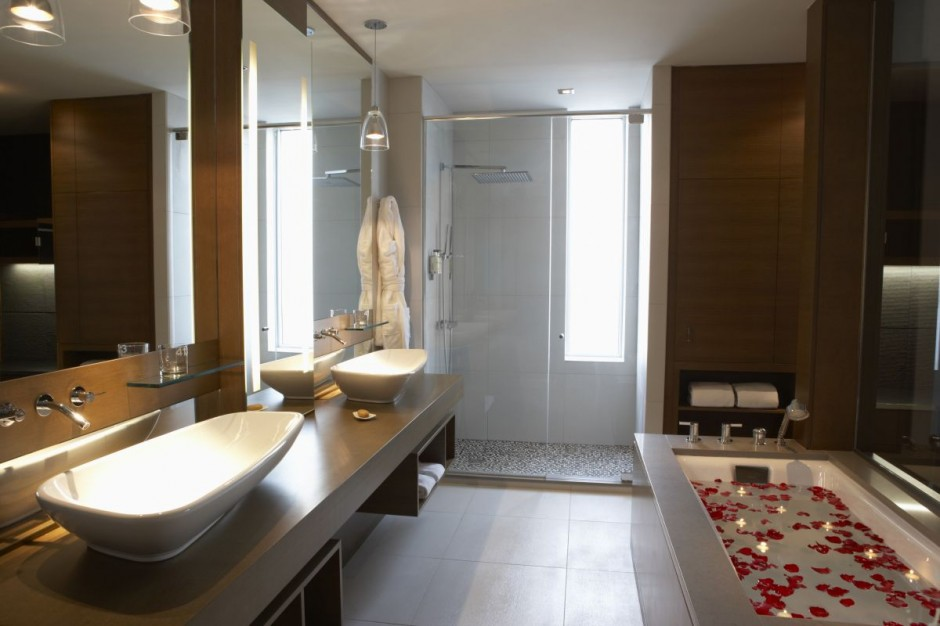 Image of: simple hotel bathroom designs