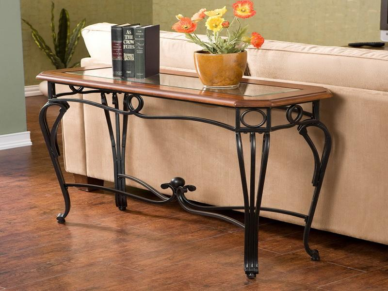 Image of: small foyer table