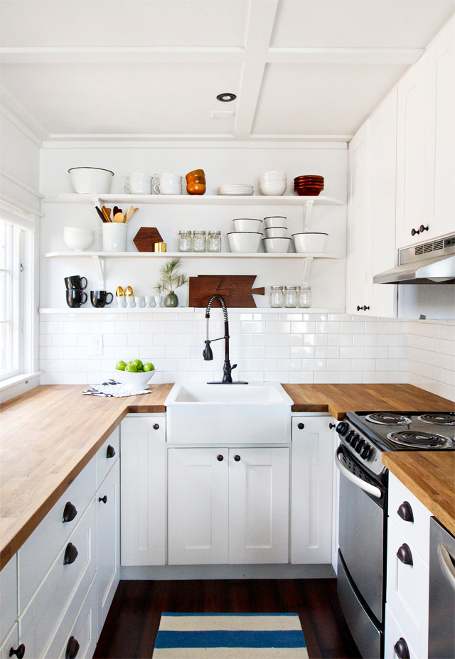 Image of: small kitchen makeovers white cabinets