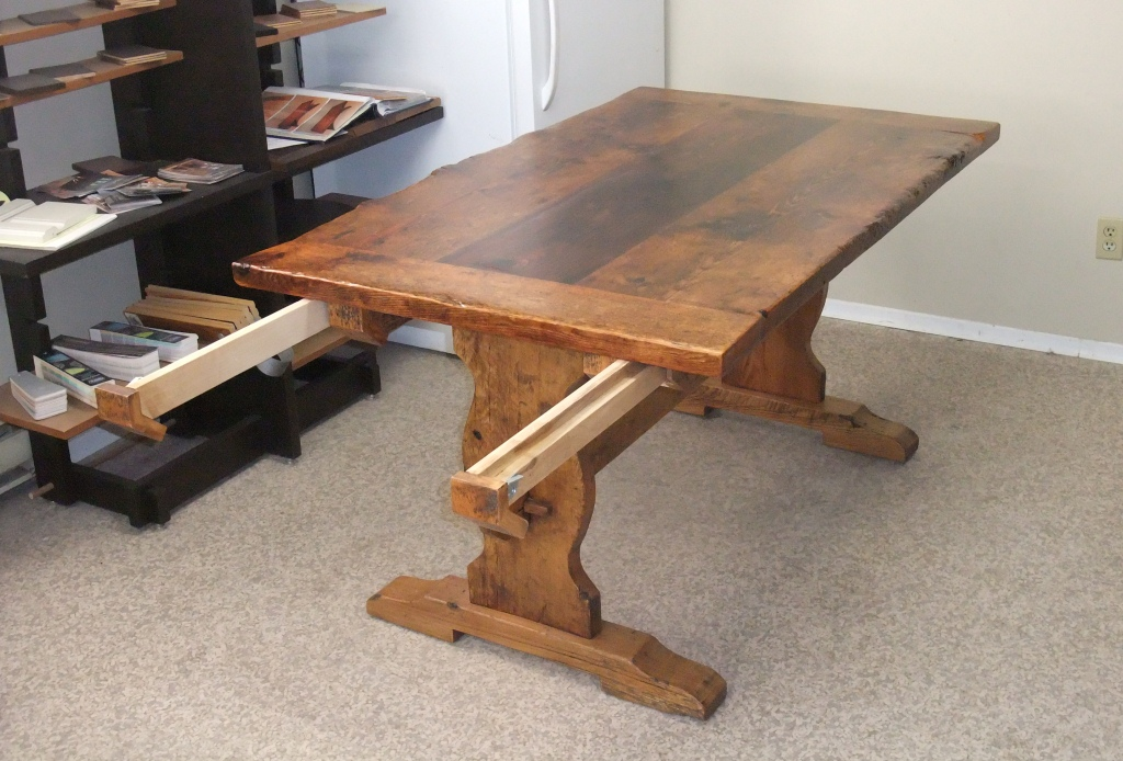Image of: small trestle table