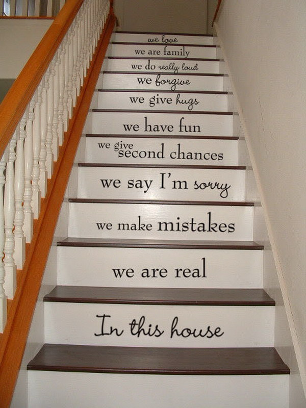 Image of: staircase art ideas