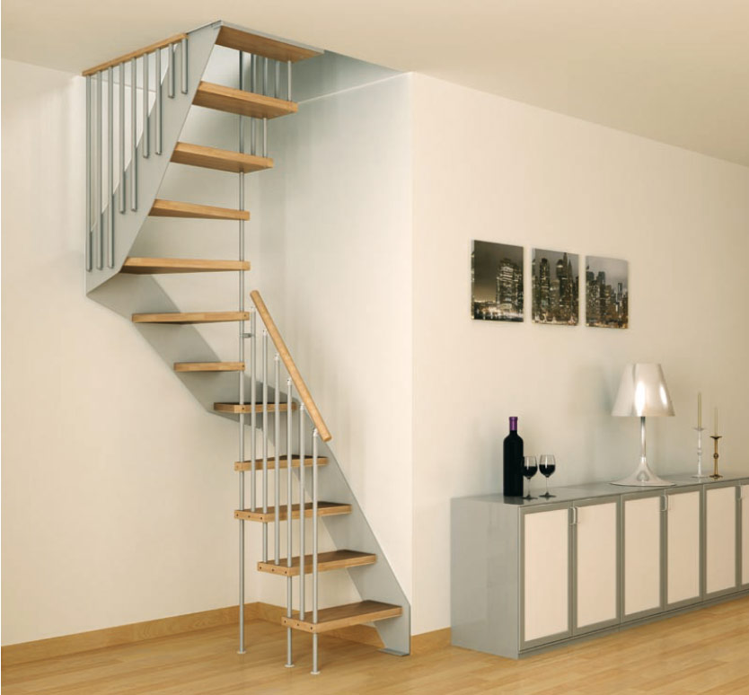 staircase corner decor