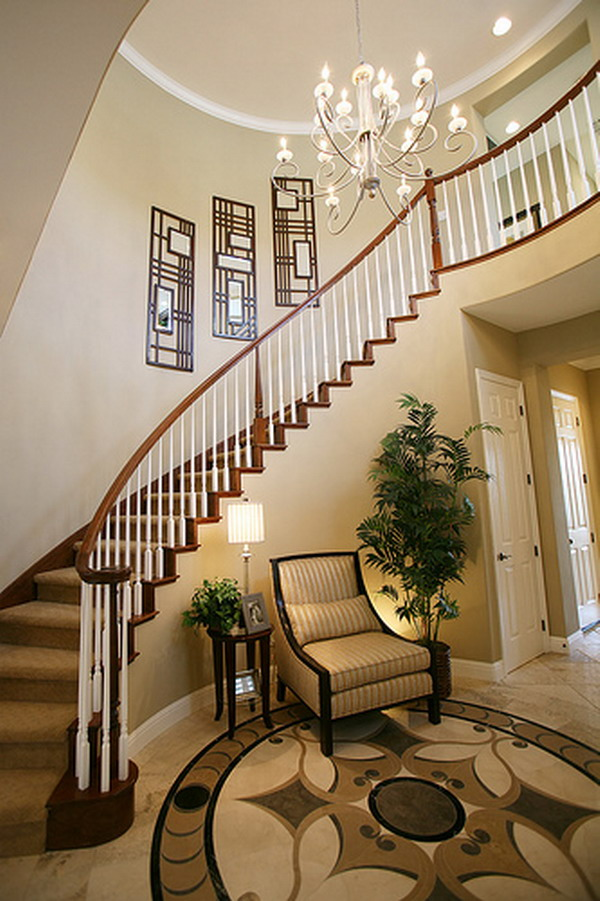 Image of: staircase ideas living room