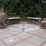 stone and brick patio designs