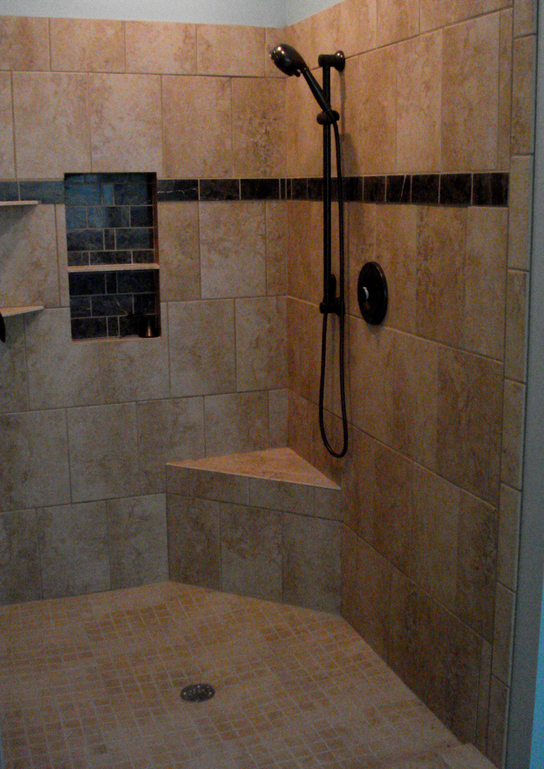 Image of: tile shower design