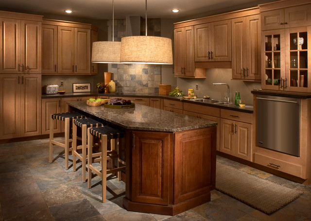 Image of: traditional kitchen cabinet designs