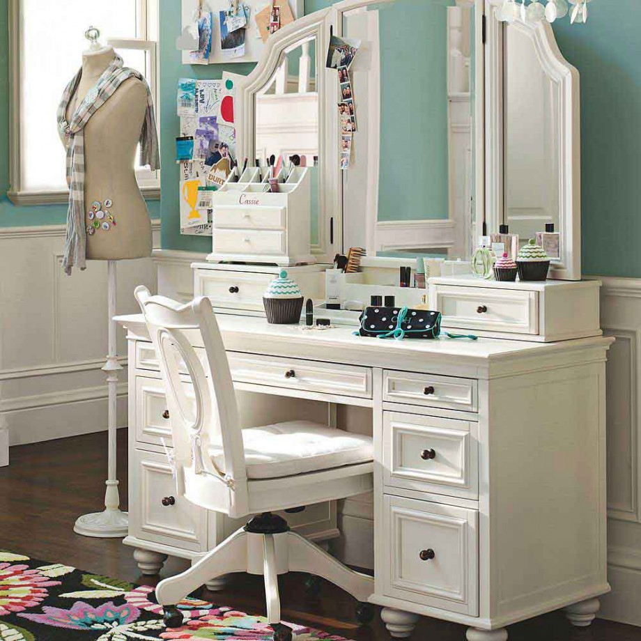 Image of: vanity table with mirror