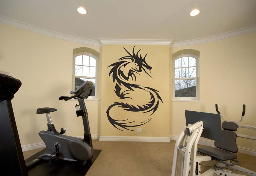 Image of: vinyl wall art dragon