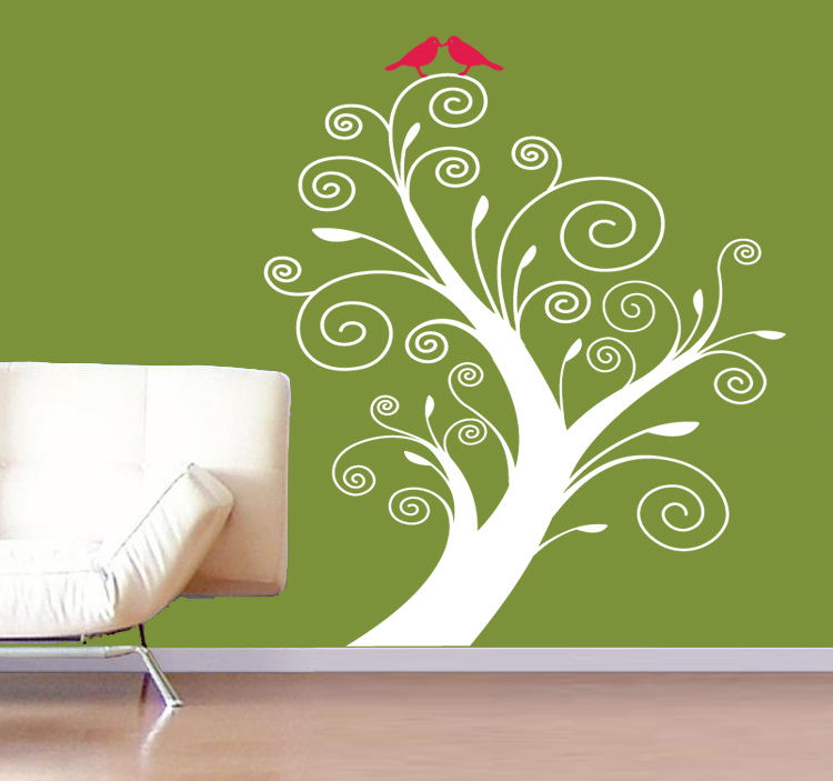 Image of: vinyl wall art tree