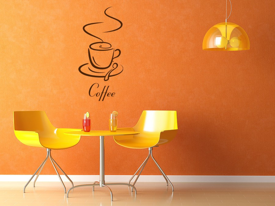 vinyl wall decor coffe break