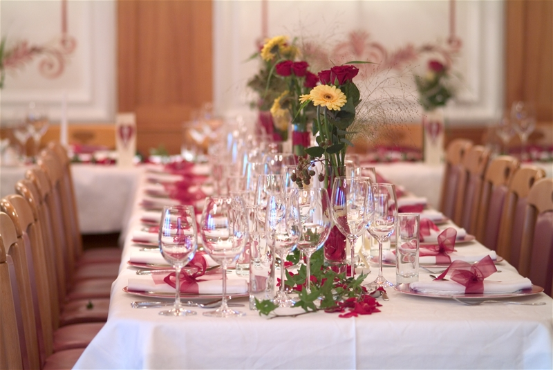 Image of: wedding reception decorations for tables