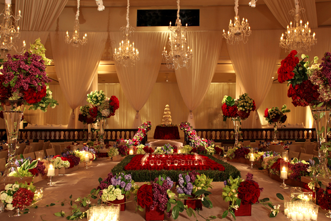 wedding reception flower decor