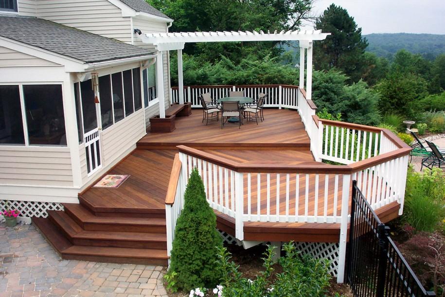 Image of: wood deck designs photos