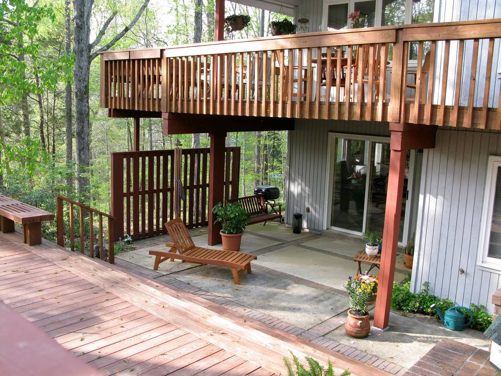 Image of: wood deck ideas designs