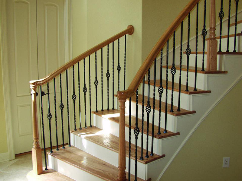 Image of: wood handrail designs