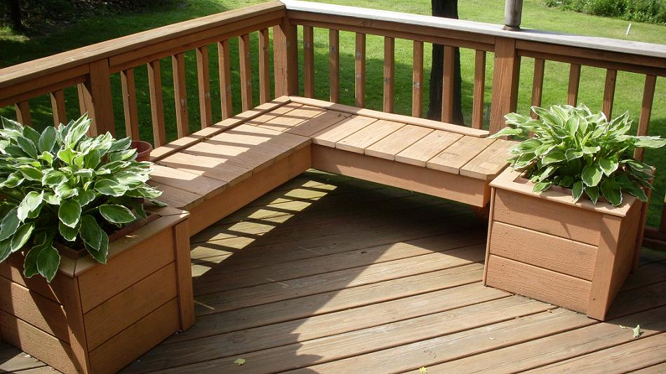 Image of: wood patio deck designs