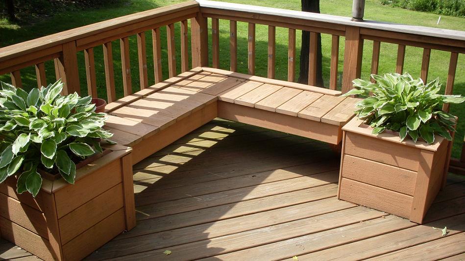Image of: wood patio deck designs