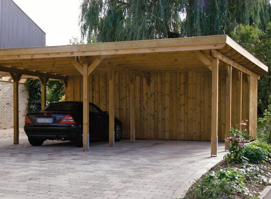Image of: wooden carport designs
