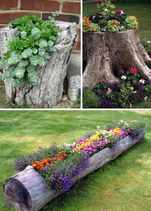 Image of: wooden garden decor ideas